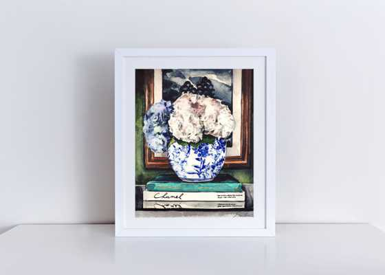 Hydrangeas in Blue and White Ginger - Etsy