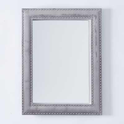 Upholstered Wall Mirror - Dove Gray Velvet - West Elm
