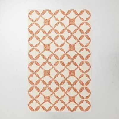 Tile Wool Kilim Rug - Mandarin-3' x 5' - West Elm