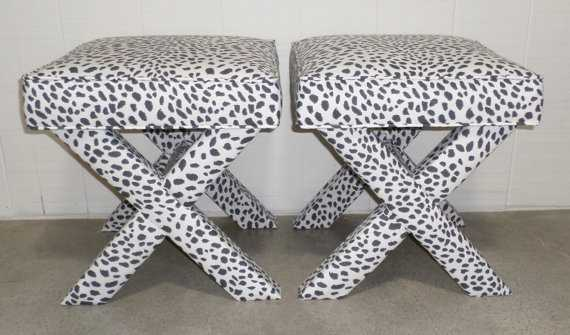 X Benches - Custom Built and Upholstered - Etsy