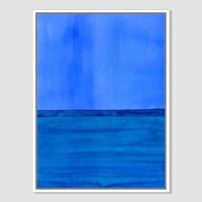"""Roar + Rabbit Print - Color Horizon- Blue - 30""""x40"""" (Canvas) -White frame - West Elm"""