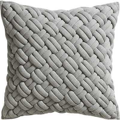 jersey interknit pillow - 20 x 20 - CB2