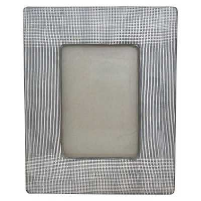 "Nate Berkusâ""¢ Cross Hatch Ceramic Photo Frame - 4""x6"" - Target"