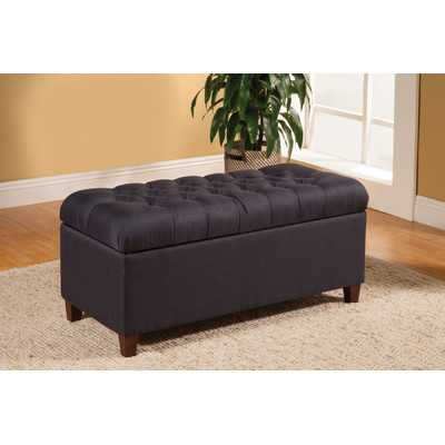 Henderson Upholstered Storage Bedroom Bench - Navy - Wayfair