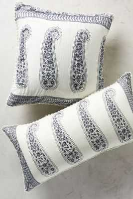 Embroidered Paisley Pillow - Anthropologie