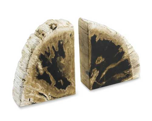 Petrified Wood Bookends - Williams Sonoma Home