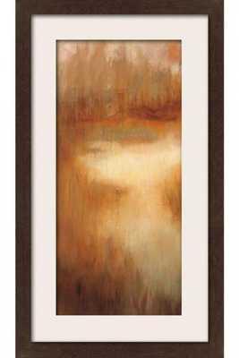 "BROWNWOOD PATH I FRAMED WALL ART - 33"" x 21"" (MATTED ESPRESSO) - Home Decorators"