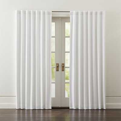 "Wallace White Blackout Curtains - 84""L - Crate and Barrel"