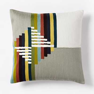 "Wallace Sewell Warp Float Crewel Pillow Cover - 16"" x 16"" - Insert sold separately - West Elm"