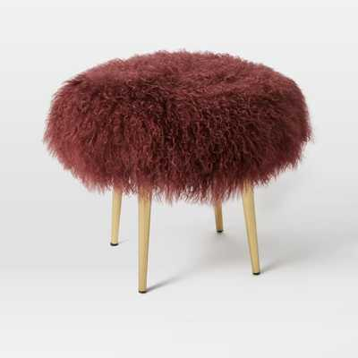 Mongolian Lamb Stool - West Elm