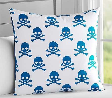 "Skull & Crossbones Decorative Euro Sham - 26"" square - Insert sold separately - Pottery Barn Kids"