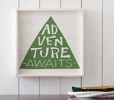 "Adventure Awaits Art - 18"" x 18"" - Framed - Pottery Barn Kids"