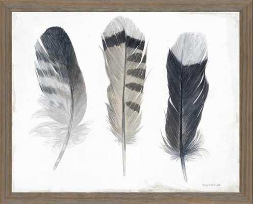THREE FEATHERS FRAMED WALL ART - Home Decorators