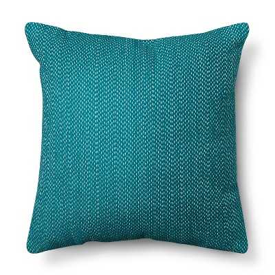 "Room Essentialsâ""¢ Stitch Solid Pillow - Teal-18''x 18""-Polyester insert - Target"