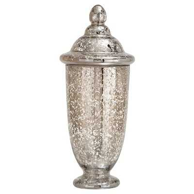 Stylish and Unique Glass Jar with Mercury Finish - Target