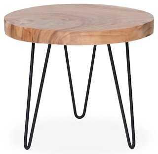 Jack Rustic Side Table, Natural - One Kings Lane