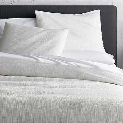 Lindstrom White King Duvet Cover - White, King - Crate and Barrel