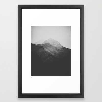 "Switzerland VII-FRAMED ART PRINT/VECTOR BLACK SMALL (15"" X 21"") - Society6"