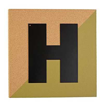 Colorblock Corkboard Letter (H) - Land of Nod