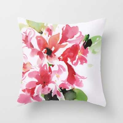"""watercolor floral 2 - THROW PILLOW COVER (18"""" X 18"""") WITH PILLOW INSERT INDOOR - Society6"""