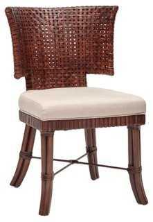 Sidney Side Chair, Brown - One Kings Lane