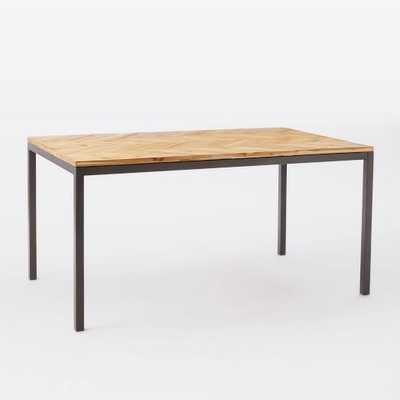 "Box Frame Chevron Dining Table - Antique Bronze; 60"" - West Elm"
