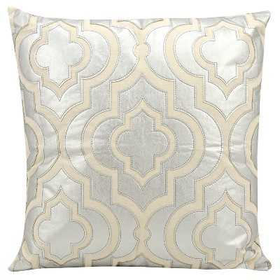"""Leather Geo Decorative Pillow-20"""" x 20""""-Insert included - Target"""