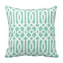 """Chic Modern Imperial Trellis Pillow - 16"""" x 16"""" - Synthetic-filled insert - zazzle.com"""