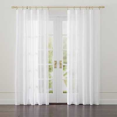 """Linen Sheer 52""""x108"""" Curtain Panel - Crate and Barrel"""