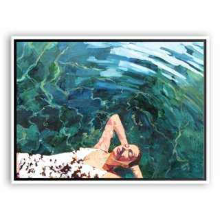 "T.S. Harris, Floating Girl-40"" x 30""-Framed (White) - One Kings Lane"