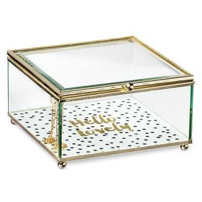 Decorative Box Tricoa Glass Multi-colored Square - Target