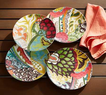 Fiji Melamine Salad Plates, Mixed Set of 4 - Pottery Barn