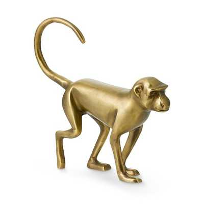 Brass Walking Monkey Sculpture - Williams Sonoma Home
