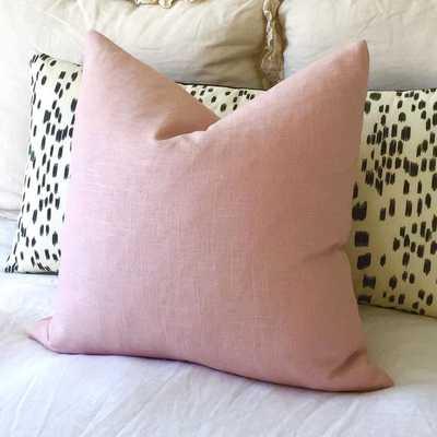 Miss Blush - Blush Linen Pillow Cover- 18X18- Insert Sold Separately - Willa Skye