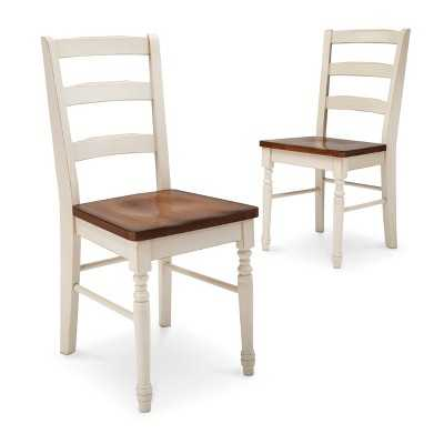 Mulberry Two Tone Distressed Dining Chair (Set of 2)-Antique white - Target