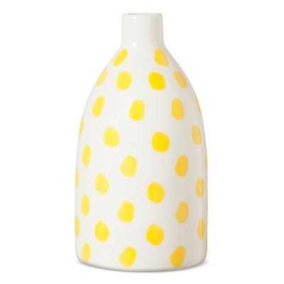 Stoneware Handpainted Yellow Dots Vase - Threshold - Target