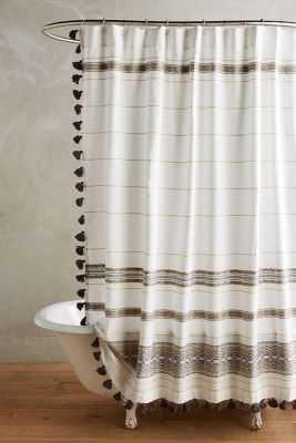 Diamanta Striped Shower Curtain - Anthropologie