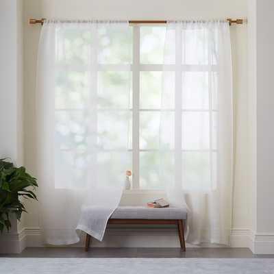 Sheer Linen Curtain - Set of 2 - West Elm