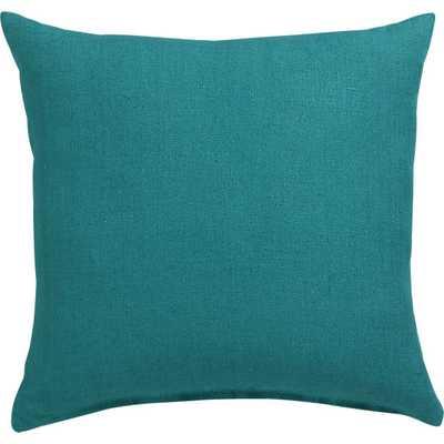 "Linon teal 20"" pillow- Down-alternative/Feather insert - CB2"