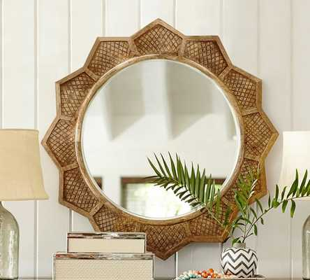 Wood Sun Mirror - Pottery Barn