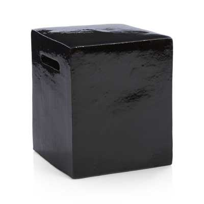 Carilo Black Garden Stool - Crate and Barrel