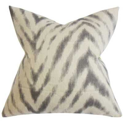 Quay Zigzag Down Fill Throw Pillow Gray - Overstock