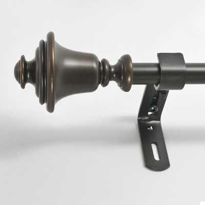 "Bell Single Curtain Rod and Hardware Set-Vintage Bronze -26-48"" - Wayfair"