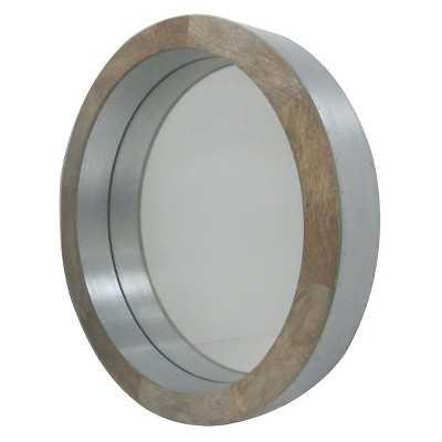 """Wooden Clad Round Mirror - Thresholdâ""""¢ - Target"""