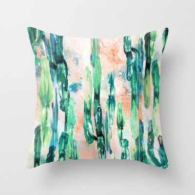 Sunset Cactus - with pillow insert - Society6