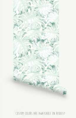 "Palm Leaves Self Adhesive Wallpaper-20.8"" x 96"" - Etsy"