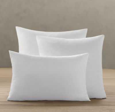 "Premium Down-Alternative Pillow Inserts - 22"" sq. - RH"