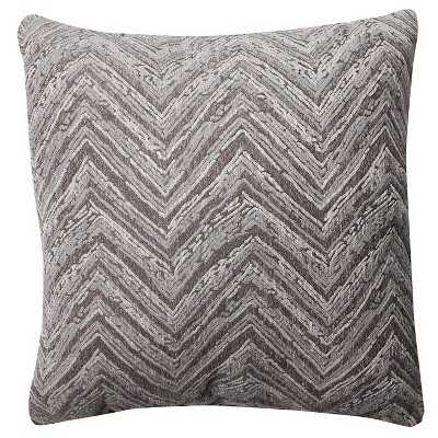 Pillow Perfect Union Driftwood Chenille Throw Pillow - 18x18, With Insert - Target