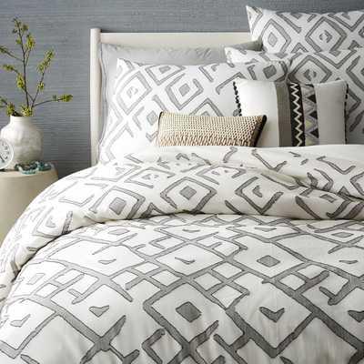 Organic Fading Diamond Jacquard Duvet Cover - Urban Outfitters