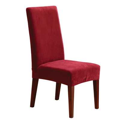 Stretch Pique Short Chair Slipcover - Wayfair